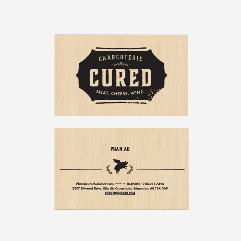 Cured - Business Cards - Kyle Loranger Design - Edmonton